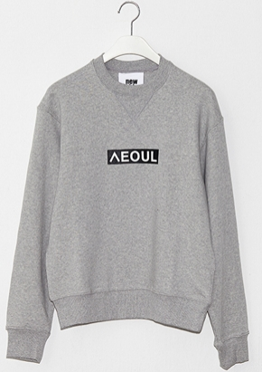 Nohant Newkidz노앙뉴키즈 LOVE CITY SEOUL SWEATSHIRT GRAY