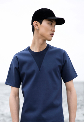 Trwa트와 Edge T-shirts Navy
