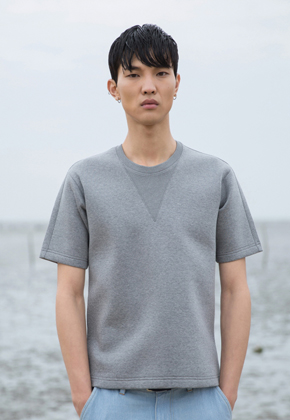 Trwa트와 Edge T-shirts Gray