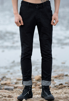 Trwa트와 DenimPants Black