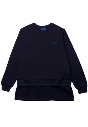 Trwa트와 Layered Longsleeve Black