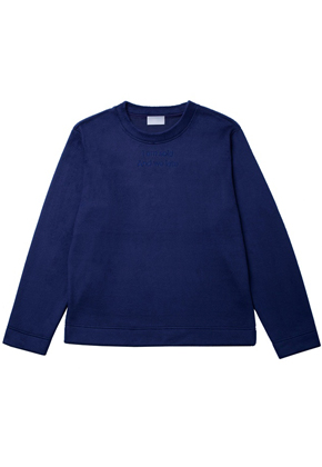 Trwa트와 Fur Long Sleeve Navy
