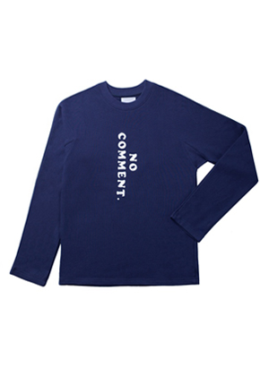 Trwa트와 Long Sleeved T-shirt Navy