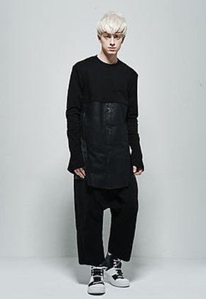 Byungmun Seo병문서 Jersey Contrast Structured Shirt Black