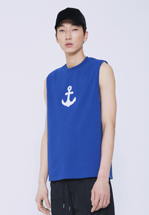 Trwa트와 ANCHOR SLEEVELESS(BLUE)