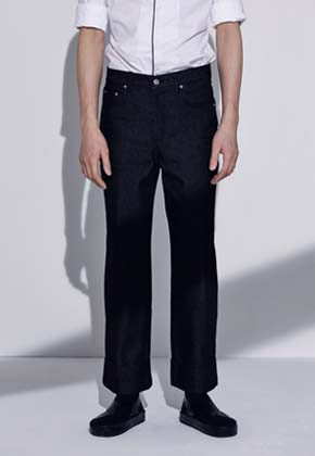 Trwa트와 SEMI WIDE DENIM PANTS(BLACK)