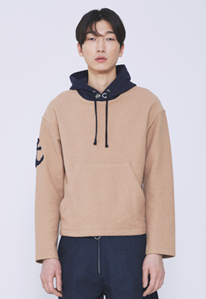 Trwa트와 ANCHOR HOODY T-SHIRTS(BEIGE)