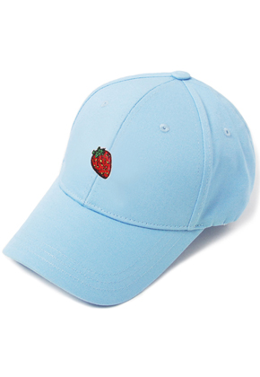 HATER헤이터 Strawberry Embroidery Cap Blue