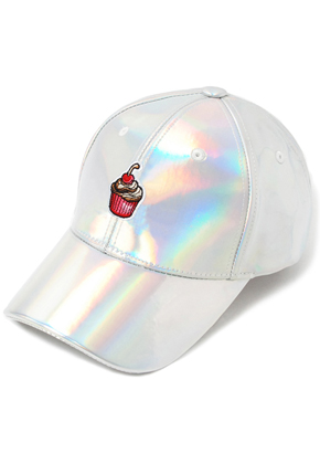 HATER헤이터 Cream Cake Embroidery Cap Shiny Holographic