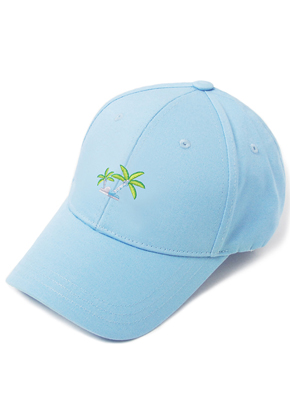 HATER헤이터 Coconut Tree Embroidery Cap Blue