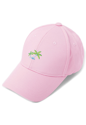 HATER헤이터 Coconut Tree Embroidery Cap Pink