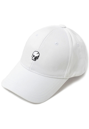 HATER헤이터 Skull Embroidery Cap White