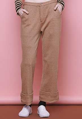 Margarin Fingers마가린핑거스 Roll-Up Pants Beige