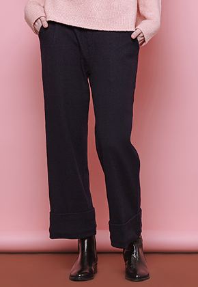 Margarin Fingers마가린핑거스 Roll-Up Pants Black