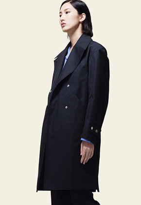 Trwa트와 TRENCH COAT(NAVY)