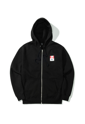 Pound파운드 Flag Zip-up Hoodie Black