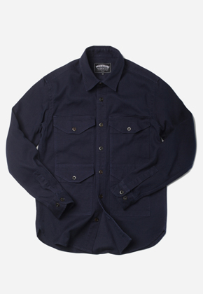 FRIZMWORKS프리즘웍스 KUROKI Dyeing Crusier Shirt Navy
