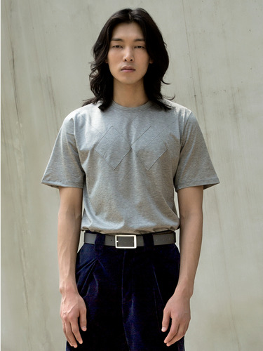 Trwa트와 ARGYLE SILKET T-SHIRT(GREY)