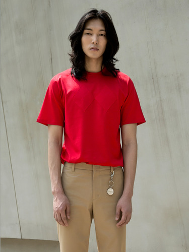 Trwa트와 ARGYLE SILKET T-SHIRT(RED)
