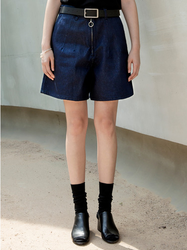 Trwa트와 RING ZIPPER SHORTS(DENIM)