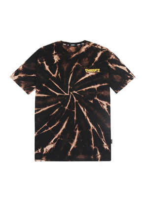 Charm's참스 Tie-dye Small Logo T-shirts Brown