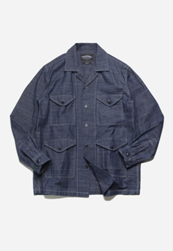FRIZMWORKS프리즘웍스 M65 shirt jacket indigo