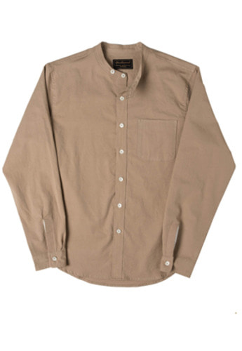 Needlework니들워크 Naval Band Collar Shirts Beige