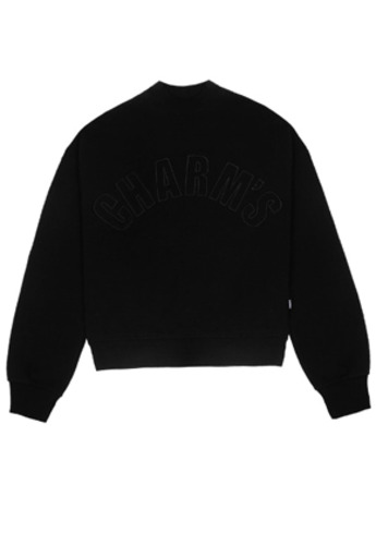 Charm's참스 Half high neck Sweatshirt Black