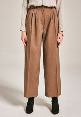 Yan13얀써틴 POINT TWO PINTUCK PANTS_BEIGE