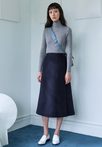 Trwa트와 WOOL WRAPED SKIRT(NAVY)