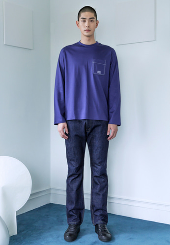 Trwa트와 SILKET LONG SLEEVE TEE(BLUE)