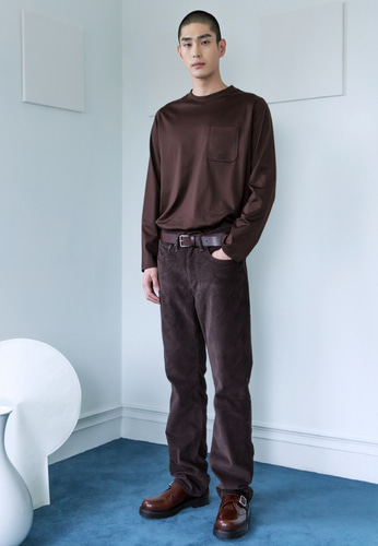 Trwa트와 SILKET LONG SLEEVE TEE(BROWN)
