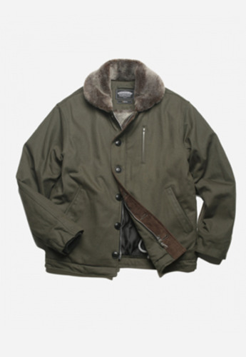 FRIZMWORKS프리즘웍스 EDGAR N-1 DECK JACKET OLIVE