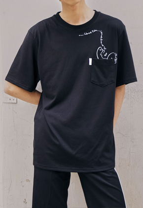 The Greatest GTXHAIL03 Pocket T-Shirts BLACK