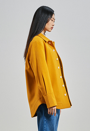SEC세크 [UNISEX] Shirt Padded Coat_Virgin Yellow