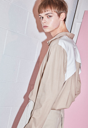 NOHANT노앙 INSIDE-OUT SHIRT BEIGE