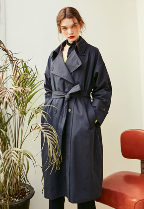 Yan13얀써틴 ROSE CLASSIC TRENCH COAT_NAVY