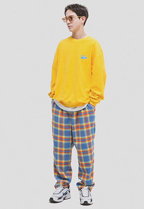 WKNDRS위캔더스 OVERSIZED PLAID TROUSER (BLUE)