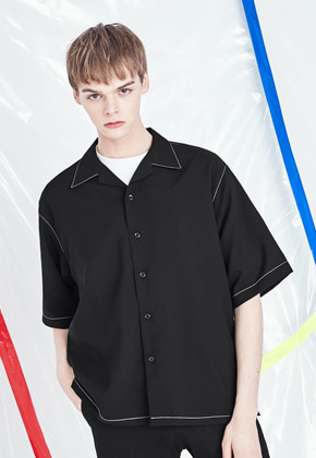 Voiebit브아빗 V420 STITCHES SHIRT  BLACK