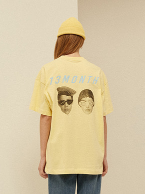 13Month써틴먼스 [3/26 예약배송] TWO FACE PRINTING T-SHIRT (YELLOW)