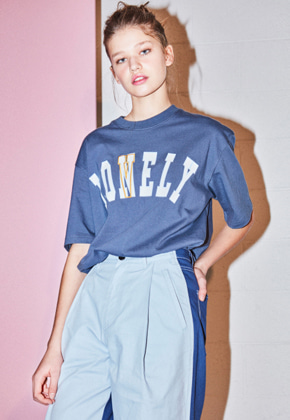 NOHANT노앙 LONELY/LOVELY SHORT SLEEVE T SHIRT TRUE NAVY