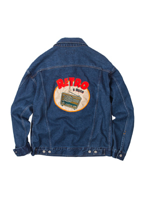 SANDPIPER샌드파이퍼 80`S RETRO DENIM JACKET(PATCHED)