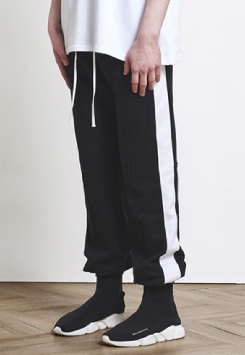 D.prique디프리크 Track Jogger Pants Black+White (d18sb012) 박서준 착용