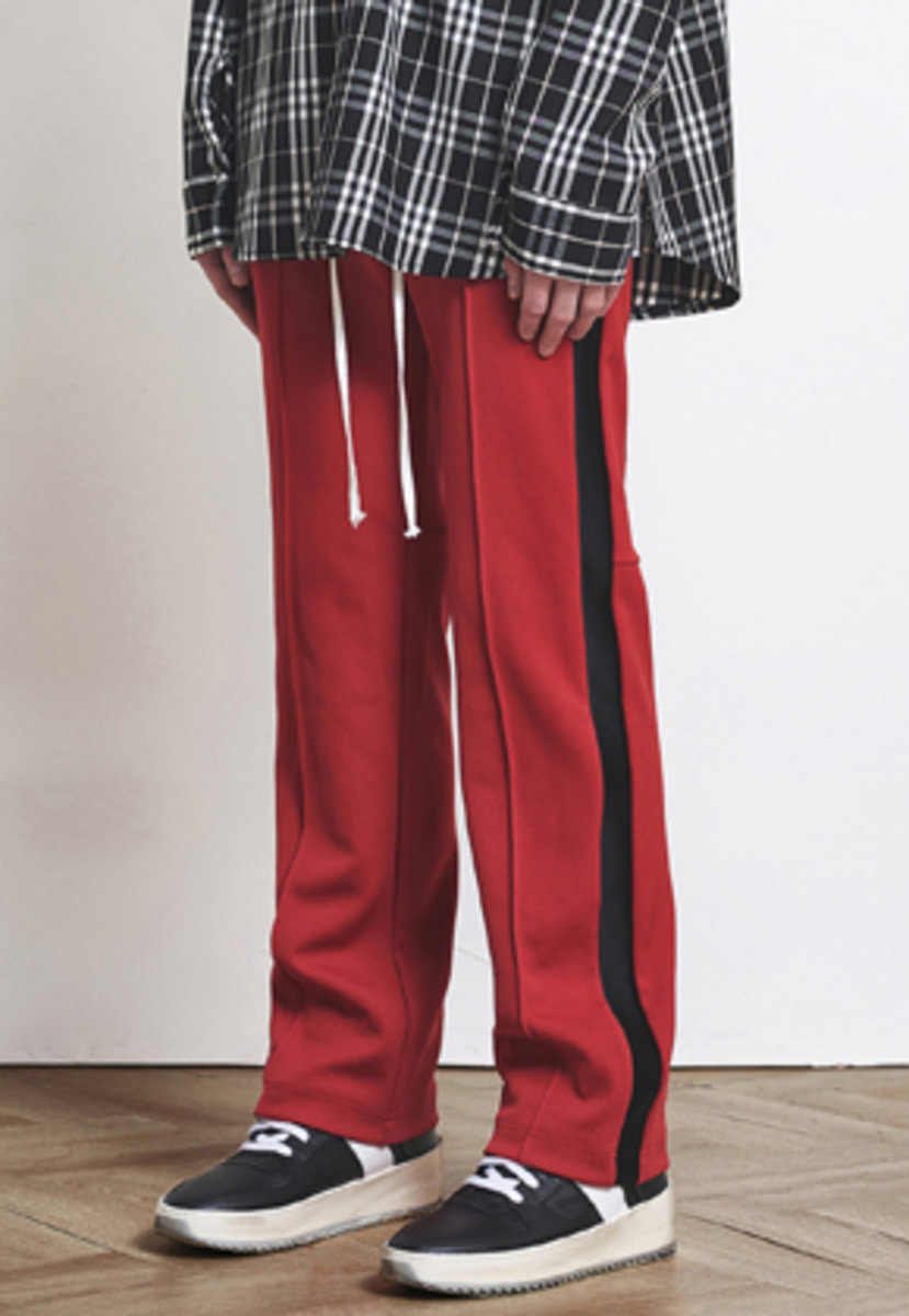 D.prique디프리크 Track Pants Red+Black (d18sb033)