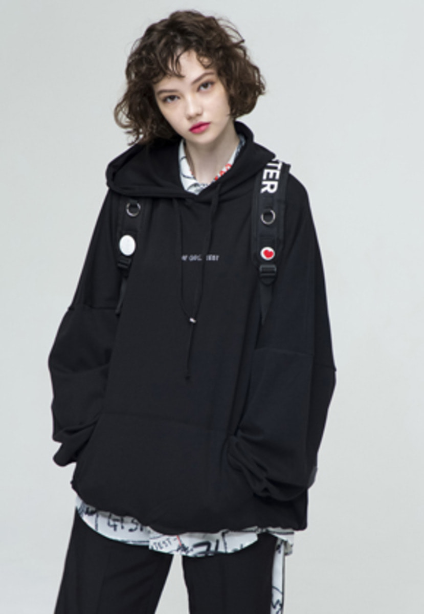 The Greatest GT18SS03 OVERSIZE HOODIE BK