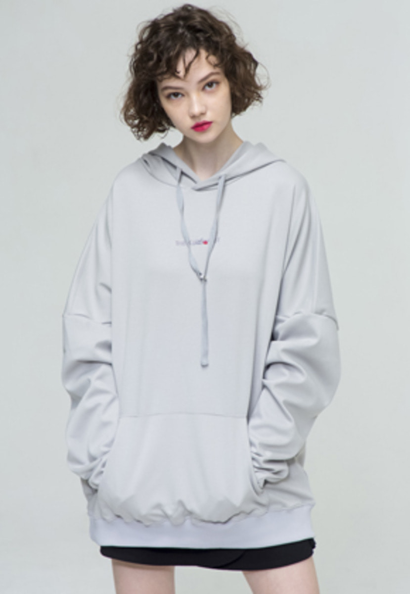 The Greatest GT18SS03 OVERSIZE HOODIE GRAY