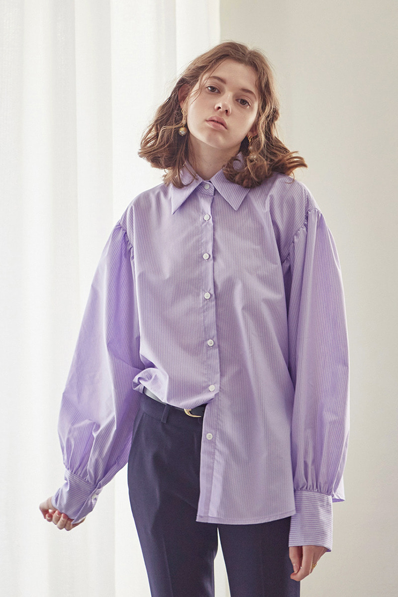 Yan13얀써틴 SOFT ST SHIRT BLOUSE_VIOLET