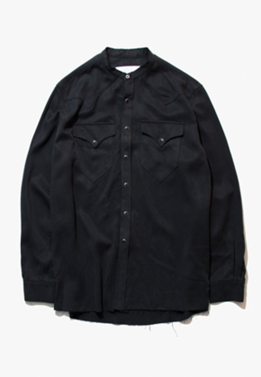 Gakuro가쿠로 ROCKMOUNT SHIRT - TENCEL (BLACK)