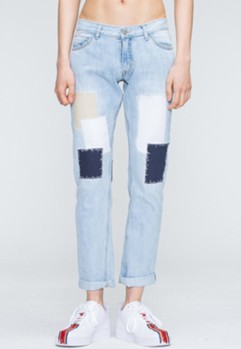 Romantic Crown로맨틱크라운 Light Blue Patchwork Pants
