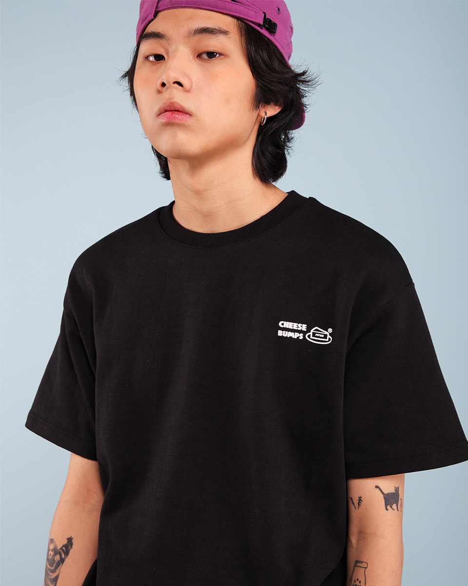 Pepperseasoning페퍼시즈닝 BUMPS T-SHIRT / BK
